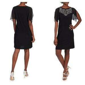 NWT PRELUDE Jeweled Bib Sheath Dress